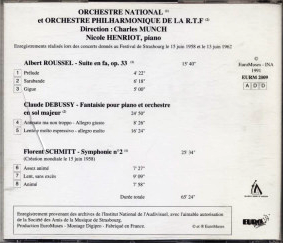 Schmitt Roussel Debussy Munch Euromuses