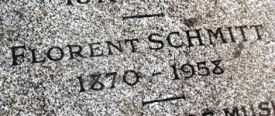 Florent Schmitt gravestone inscription