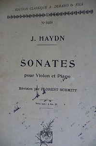 Haydn Violin & Piano Sonatas Florent Schmitt