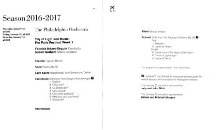 Philadelphia Orchestra Paris Festival Week 1 Schmitt Canteloube