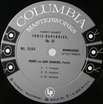 Schmitt Trois rapsodies Casadesus Columbia
