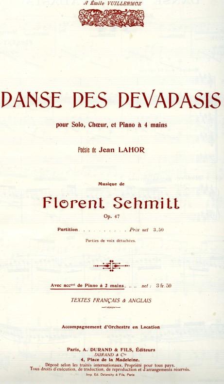 Florent Schmitt Danse des Devadasis