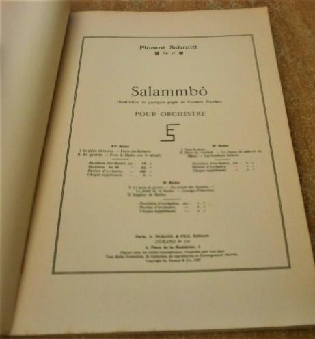 Florent Schmitt Salammbo score