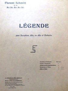 Florent Schmitt Legende score 1918