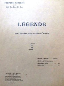 Florent Schmitt Legende score 1918