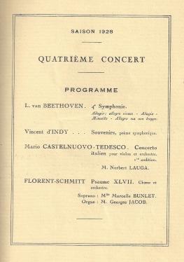 Florent Schmitt Psaume XLVII Straram Concerts