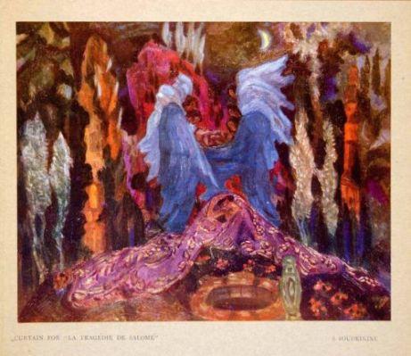 La Tragedie de Salome curtain design (1913 Ballets Russes)