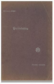 Florent Schmitt: Piano Quintet score cover