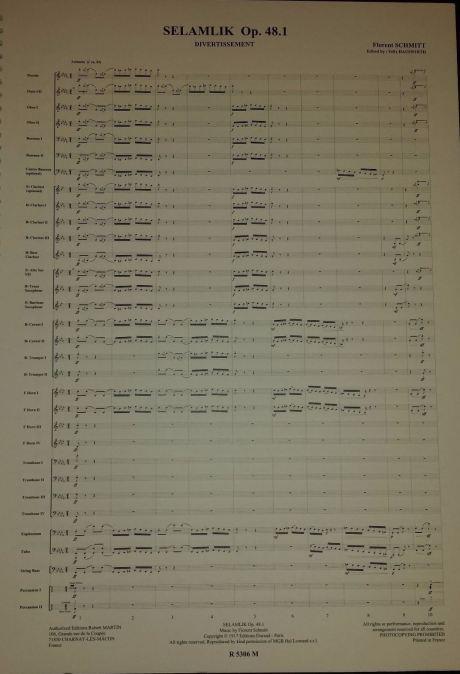 Florent Schmitt Selamlik score