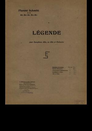 Florent Schmitt Legende Score Durand 1918