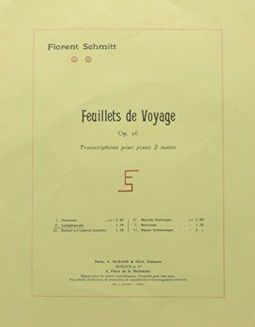 Florent Schmitt Feuillets de voyage score