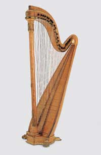 Chromatic harp from Pleyel (cross-strung harp)