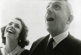 "Francis Poulenc and his ""feminine ideal,"" the soprano Denise Duval."