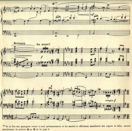 Florent Schmitt Marche nuptiale score detail