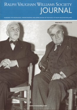Ralph Vaughan Williams and Florent Schmitt Society Journal Magazine Cover