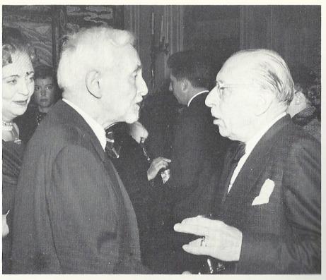 Florent Schmitt and Igor Stravinsky (1957 photo)