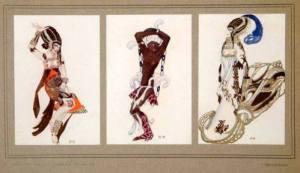 Serge Sudekine costume designs for La Tragedie de Salome