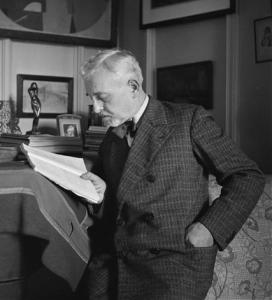 Florent Schmitt in his study (1937)