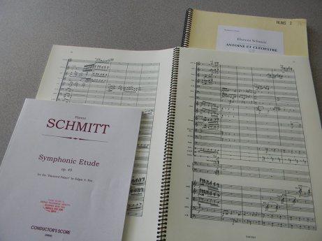 Florent Schmitt full scores Haunted Palace Antony & Cleopatra