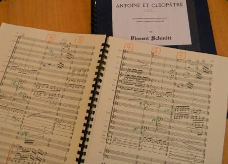 Conductor scores for Florent Schmitt's Antony & Cleopatra Suites
