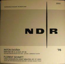 Florent Schmitt Cinq choeurs en vingt minutes Helmut Franz NDR