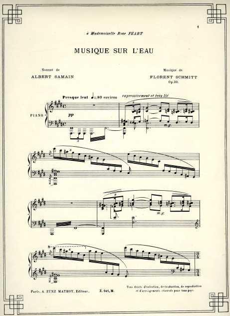 Florent Schmitt Musique sur l'eau