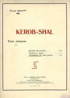 Florent Schmitt Kerob-Shal score