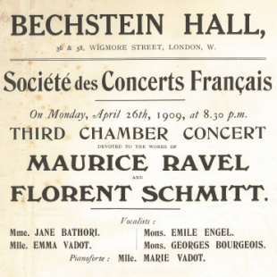 Wigmore Hall Schmitt Ravel 1909