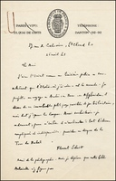Florent Schmitt letter to Michel de Bry