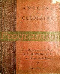 Antony & Cleopatra program 1920