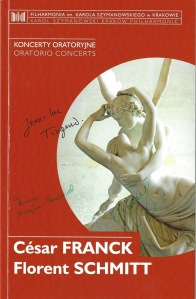 Schmitt Franck Krakow Program Cover