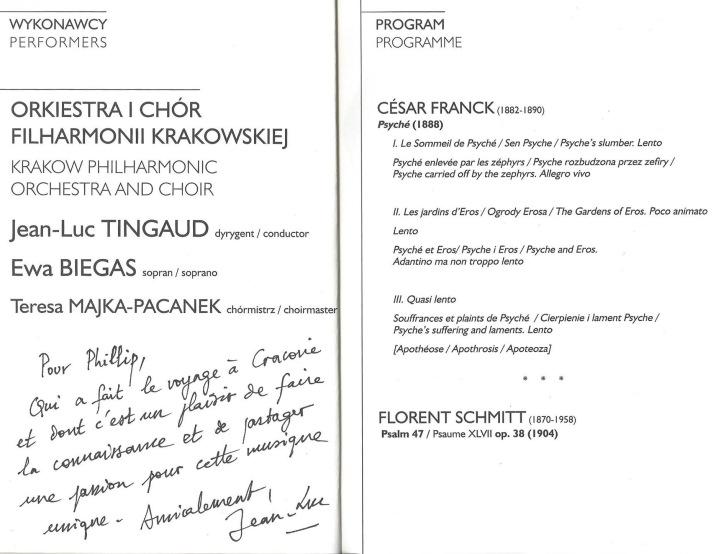 Krakow Philharmonic Concert Program Franck Schmitt