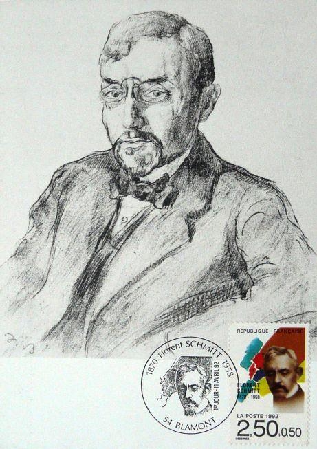 Florent Schmitt postage stamp 1992