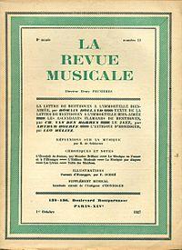 La Revue Musicale