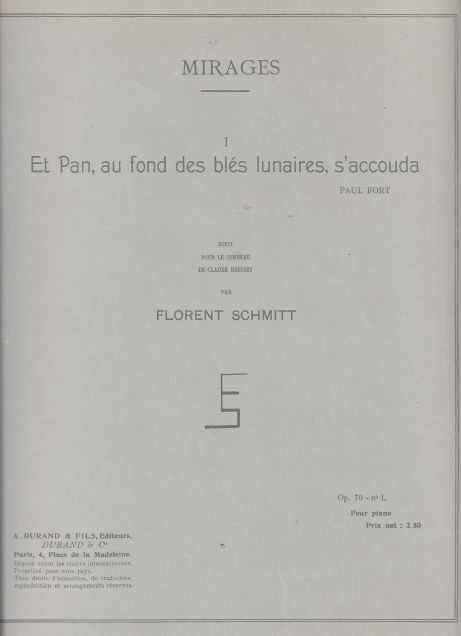 Florent Schmitt Et pan ...