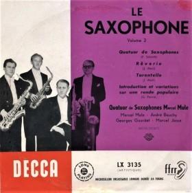 Florent Schmitt Absil Pierne saxophone compositions Marcel Mule Decca