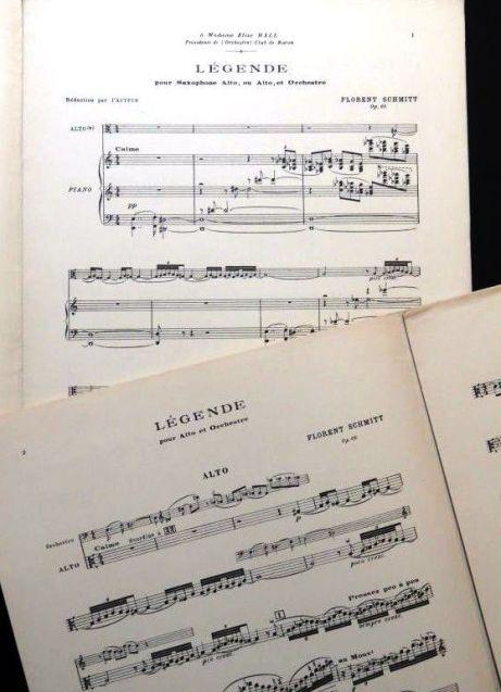 Florent Schmitt Legende score