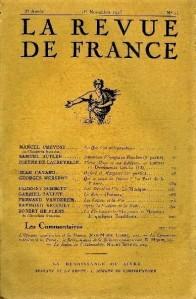 La Revue de France 1923