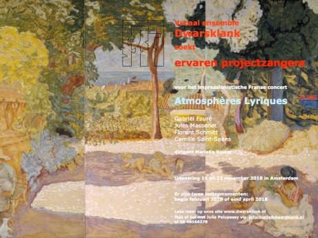 Vocaal Ensemble Dwarsklank Schmitt Massenet Faure Saint-Saens Koster