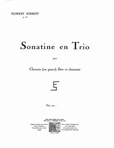 Florent Schmitt Sonatine en trio score