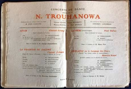 Trouhanova program 1912 Schmitt d'Indy Dukas Ravel