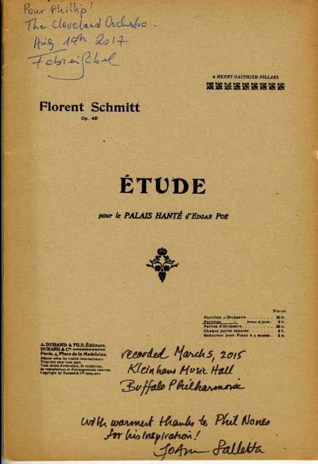 Florent Schmitt The Haunted Palace score Falletta Gabel