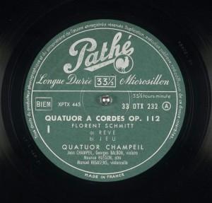 Florent Schmitt Quartet Champeil Pathe