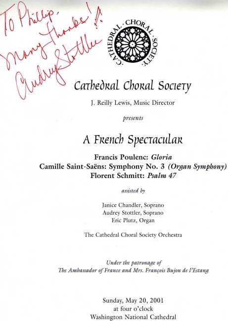 CCS Program 2001 Schmitt Saint-Saens Poulenc Stottler Lewis
