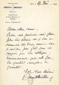 Chevillard Schmitt letter