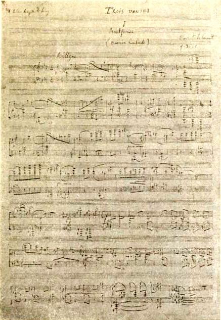 Florent Schmitt Trois danses manuscript 1935