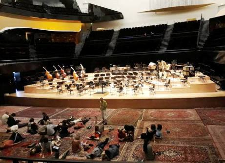 Paris Philharmonic Salle Pierre Boulez with oriental carpets