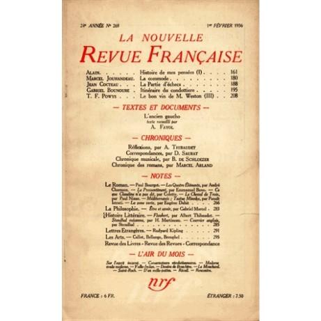 Nouvelle revue francaise February 1936