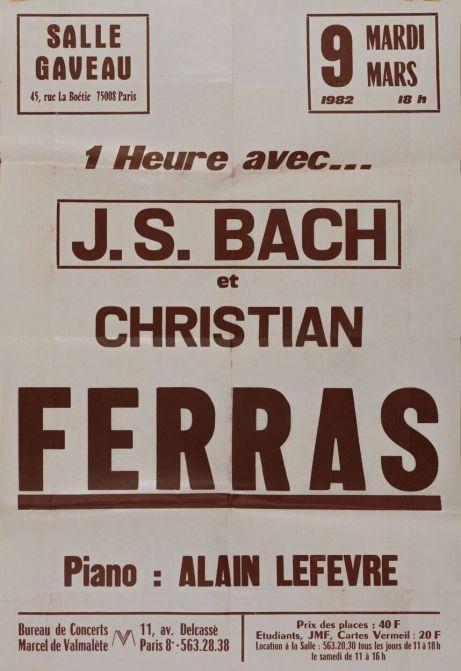 Ferras Lefevre Salle Gaveau 1982