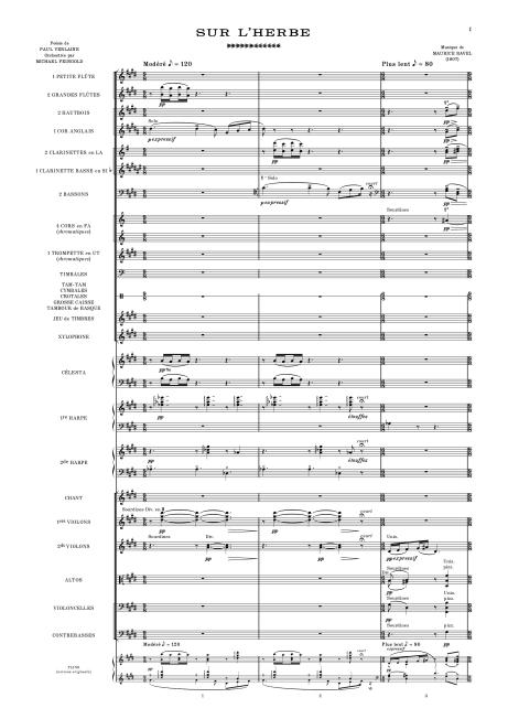 Ravel Sur l'herbe Feingold